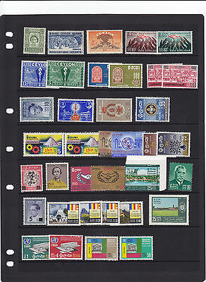 1952-67 Ceylon Unmounted Mint Stamps Collection In Sets Look Sg Cat £44 Per Scan