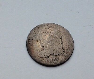 1831 Busted Caped Half Dime