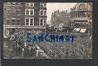 Walsall, The Bridge, North Staffordshire Regiment ? Soldiers, Parare, Rare Rp