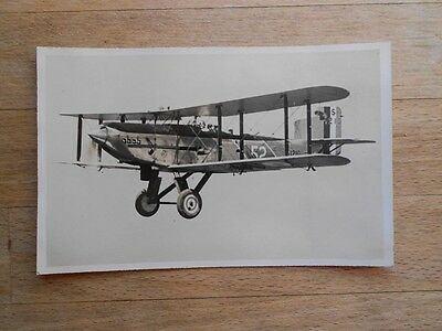 Vintage postcard 1920s RAF aeroplane probably from Aircraft Carrier Navy Ship