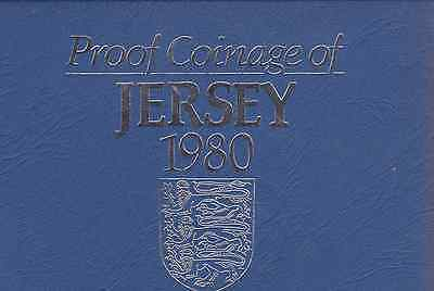 1980 Royal Mint Proof Coinage of Jersey Coin Year set + COA