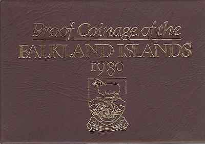 1980 Royal Mint Proof Coinage of Falkland Islands Coin Year Set