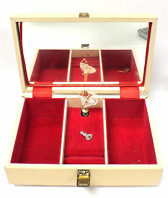 Vintage TALLENT Musical Jewellery Box With Key - 321 B84