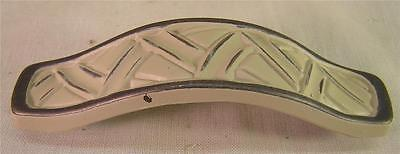 """10 Vintage Style Painted White Metal Handle Pull 4"""" Cabinet  Furniture Hardware"""
