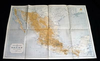 The National Geographic Society Map Of Mexico 1920S Vintage