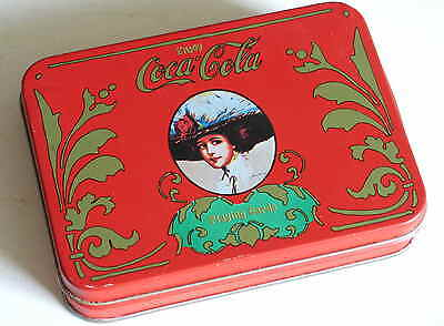 Coca Cola Metal Tin with Deck Playing cards and Score Pad FREE SH