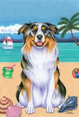 Garden Indoor/Outdoor Summer Flag (TP) - Australian Shepherd 690741