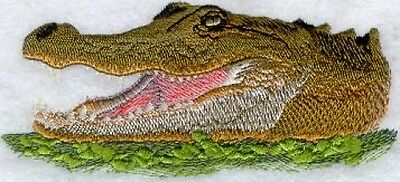 Large Embroidered Zippered Tote - American Alligator Head M1262