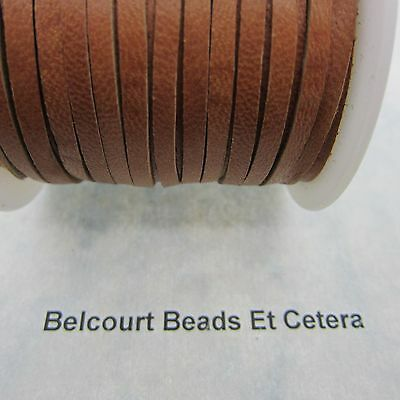 20' Deer Leather Saddle Tan Lace 3mm x 1mm Thick Real Leather Crafts Made in USA