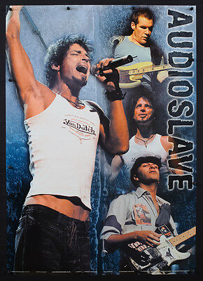 Rare Vintage Audioslave Music Poster Rage Against Machine Soundgarden Group  F8