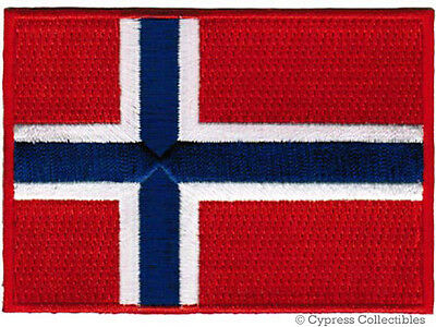 NORWAY NATIONAL FLAG PATCH NORWEGIAN EMBROIDERED EMBLEM iron on applique