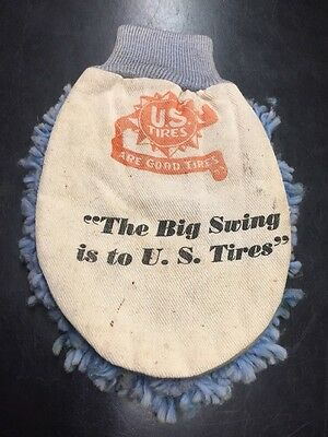 Vintage US Tire Advertising Car Wash Mitt Cool Old Piece