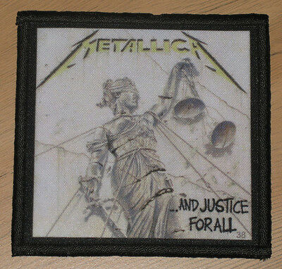 """METALLICA """"AND JUSTICE FOR ALL"""" silk screen PATCH"""