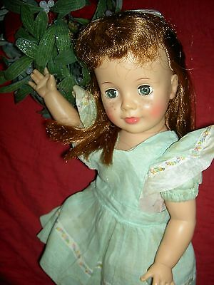 """Original 1960 Ideal Pattite Patti PlayPal 18"""" doll rooted hair, freckles, exlnt"""