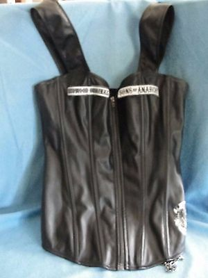 Sons Of Anarchy Corset Size M/ Vinyl Fabric/ Zip Front