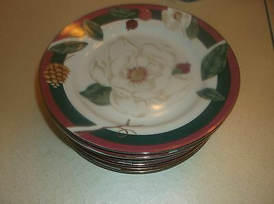 Set Of 8 Tienshan Fairfield Magnolia Salad Plates 8 Inches
