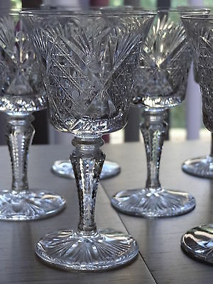 Eight Wine Glasses Crystal St Louis Pattern Vologne