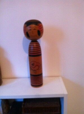 Wooden Japanese Kokeshi Doll Vintage Old