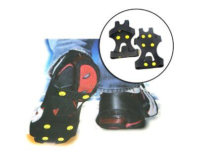 Universal Non Slip Snow Ice Grips Cleats Treads Crampons Shoe Boot Spikes UK NEW