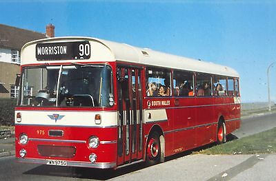 DUPLICATE 35mm BUS SLIDE,  AEC RELIANCE  SOUTH WALES TRANSPORT  PWN 975G