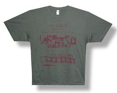 "Led Zeppelin ""japan Plane"" Olive Green T-Shirt - New Xxl 2Xl Official"