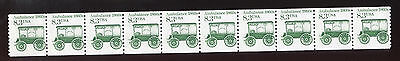 (1985) #2128 8.3¢ Ambulance 1860s MNH strip of 10 unused stamps