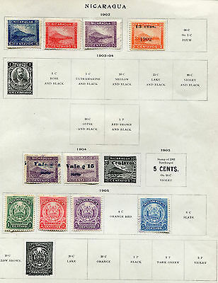 Sheets of NICARAGUA Stamps MH + used stamps