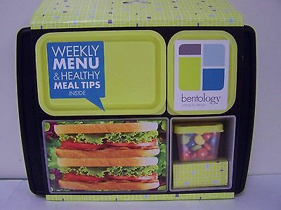 Bentology Black Lunch Box  With  5 Removeable Container  New