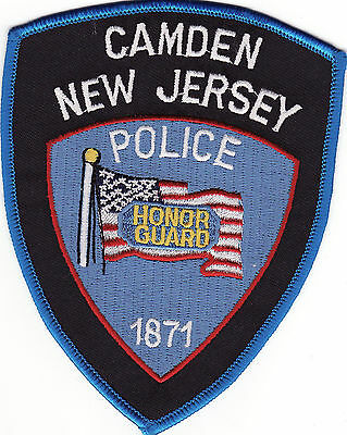 NJ Camden New Jersey Honor Guard Police Patch *New*