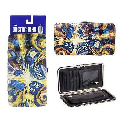 Doctor Who Hinge Wallet Van Gogh Exploding Tardis Wallet Purse Bbc Official