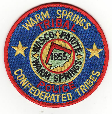 OR Warm Springs Confederated Tribes Oregon Tribal Police Patch *New*