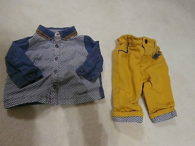 baby boy top and trouser set 0-3 months