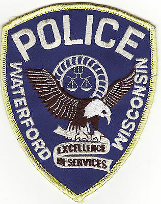 WI Waterford Wisconsin Police Patch *New*