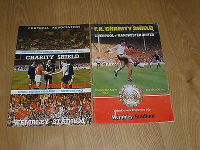 ***charity Shields  1979  & 1983*** Manchester  United V Liverpool