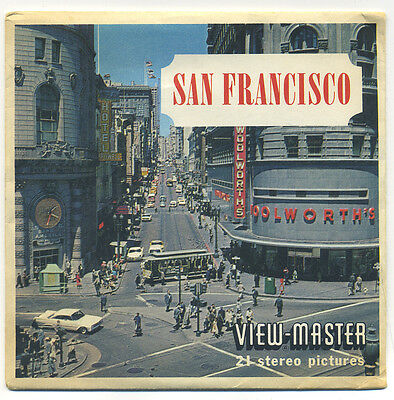 San Francisco California 1962 Sawyer's View-Master Packet A-172
