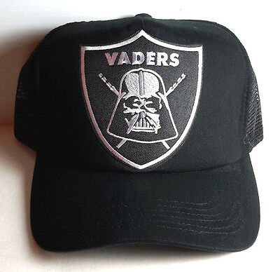 Star Wars Vader's Raiders Trucker Style Baseball Cap/Hat-BLACK Cap- FREE S&H