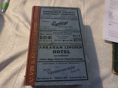 Original 1932 Springfield Illinois Il City & Business Directory 1390 Pages