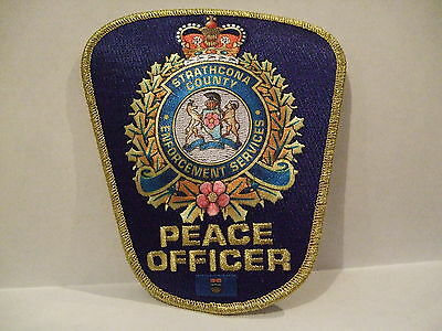 police patch   STRATHCONA COUNTY PEACE OFFICER SHERWOOD PARK ALBERTA  CANADA