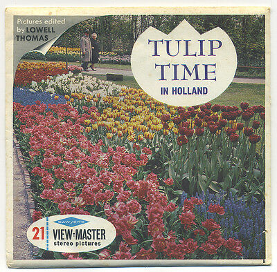 Tulip Time in Holland 1960's Sawyer's View-Master Packet C-385