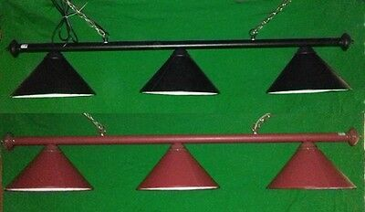 Rosetta Leather Pool Snooker Table Light Black Or Brown Shade Lighting Lamps