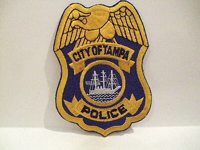 police patch   CITY OF TAMPA  POLICE FLORIDA
