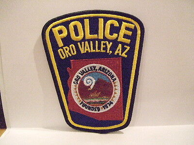 police patch ORO VALLEY ARIZONA