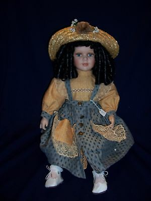 Cathay Depot Collection Large Porcelain Doll Heidi Straw Hat Limited Edition