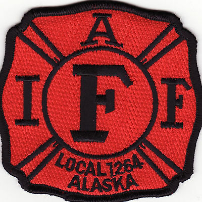 AK Anchorage Alaska IAF Intl Assoc. of Firefighters Patch *New*