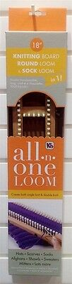 """Authentic KB 18"""" All in One Loom Adjustable Knitting Board, Round ,Sock KB6480"""