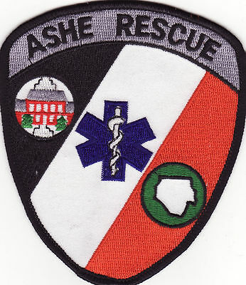 NC Ashe North Carolina EMS Rescue Fire Patch *New*