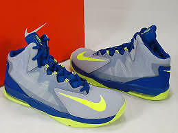 New Nike Air Max Stutter Step ll Size 5.5y Yth  Basketball Shoe Gry/Green 653754