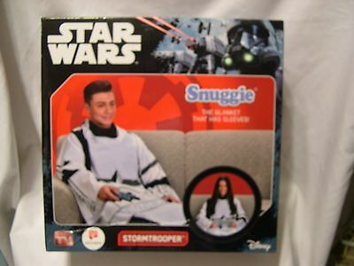 New! STAR WARS Adult Snuggie STORMTROOPER super soft blanket with sleeves