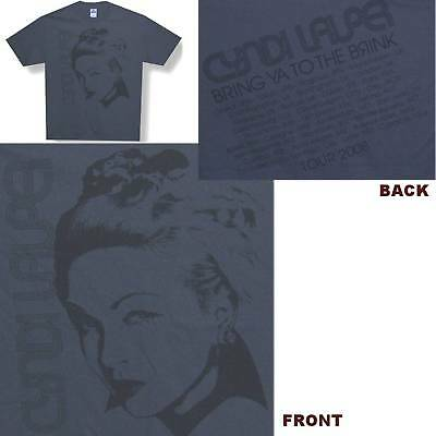 Cyndi Lauper To The Brink 2008 Tour Grey T-Shirt Large New Official