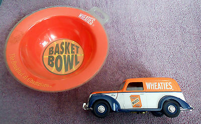 """Liberty Classics 7"""" 1940 Ford Die Cast Wheaties Truck w/Cereal Basket Bowl MT NR"""